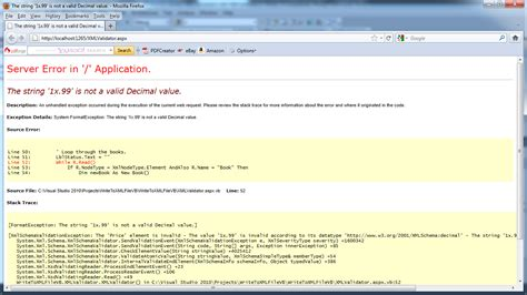 xml tutorial in asp net validating of an xml document with xml schemas in vb net