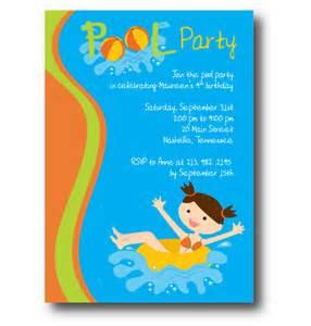 free pool birthday invitation printable