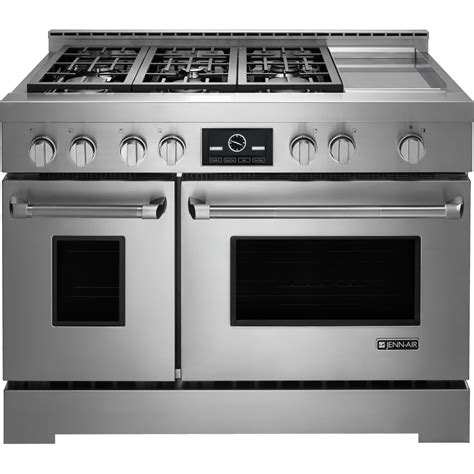 Oven Gas Convection jgrp548wp jenn air pro style 174 48 quot slide in convection gas