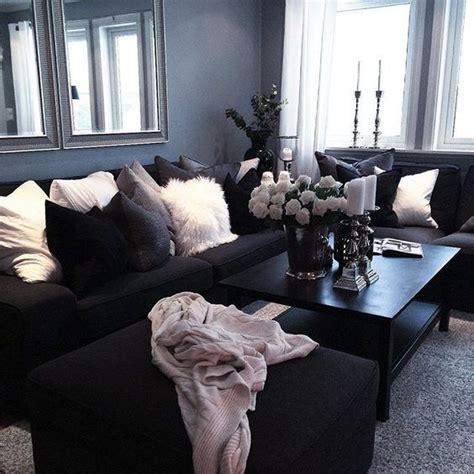 black sofa living room best 25 black decor ideas on black sofa