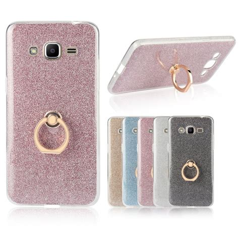 Luxury Glitter Samsung J2 Softcase Softshell Jelly Cover Casing glitter for samsung galaxy j2 j2 prime j2prime back cover luxury ring holder grip rubber