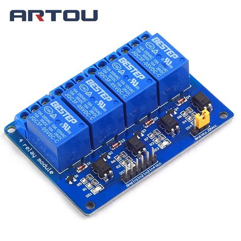 Relay 4 Channel 5v blue 4 channel 5v relay module 5v 4channel relay output 4 channel 4 way relay module shield in