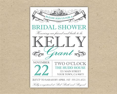 Bridal Shower Invitation Templates Madinbelgrade Wedding Shower Templates