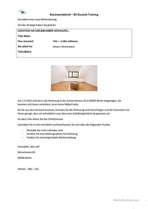 Beschwerdebrief B1 10 000 Kostenlose Arbeitsbl 228 Tter Daf Lehrer F 252 R Daf Lehrer