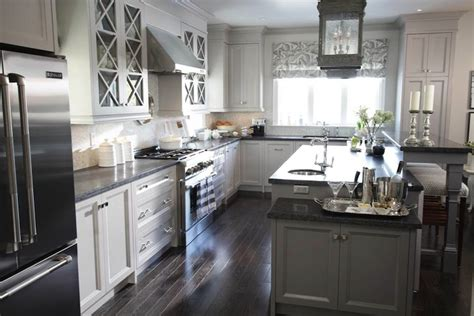 Light Grey Kitchen Cabinets With Black Counters honed black granite transitional kitchen para paints