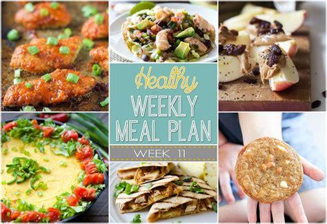 healthy weekly meal plan 11 yummy healthy easy