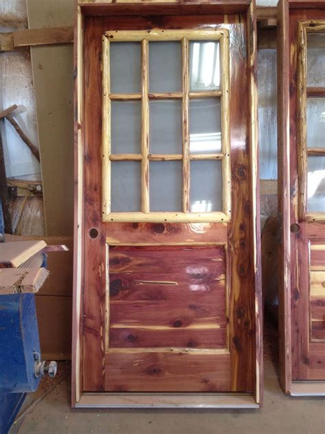 cedar entry door rustic aromatic cedar entry door with log window frame
