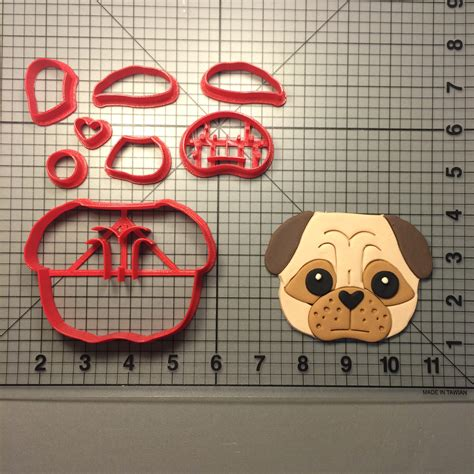 pug cookie cutter pug 100 cookie cutter set