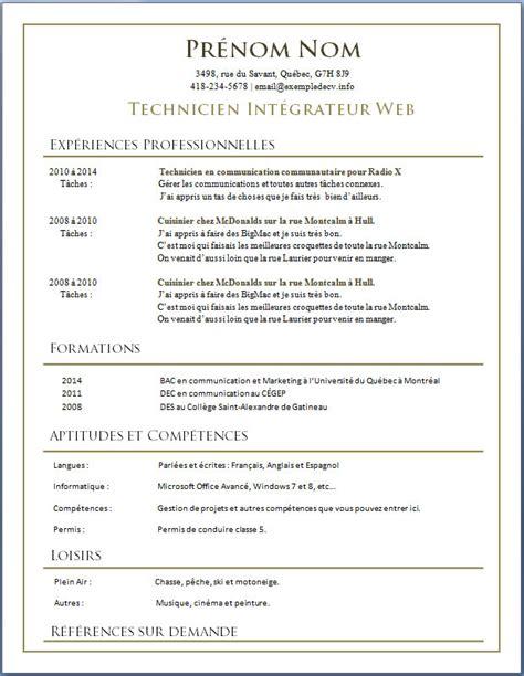 Best Resume Nurse by Exemple De C V 28 Images Exemples De Cv En Francais