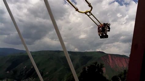 glenwood springs swing ride extreme thrill rides the giant canyon swing at glenwood