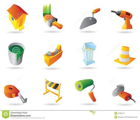 clipart edilizia icone per industria dell edilizia illustrazione vettoriale