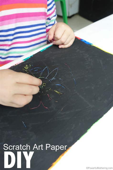 DIY Scratch Art Paper for Kids A-paper Clip Art
