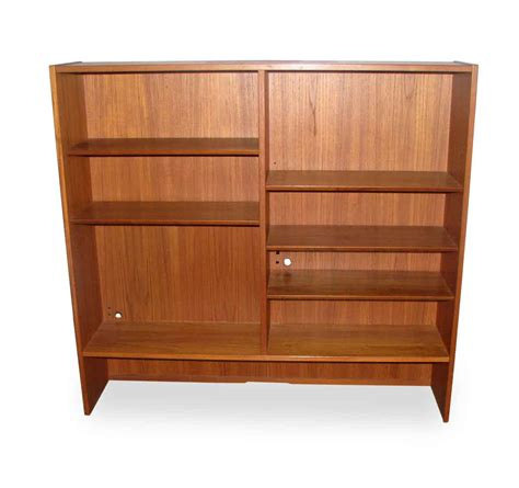 mid century bookcase with five shelves olde things