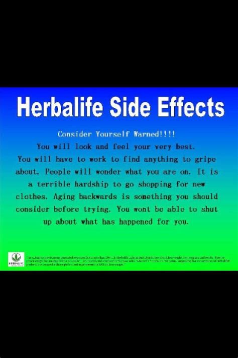 Herbalife Detox Side Effects 25 best ideas about herbalife side effects on
