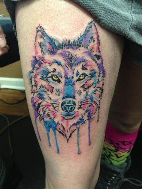 southern steel tattoo wolf thigh southern steel with