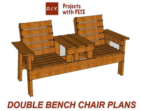plans for building a bench free patio chair plans how to build a double chair bench