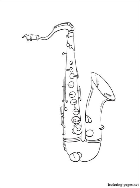 wind instruments coloring pages saxophone coloring page coloring pages