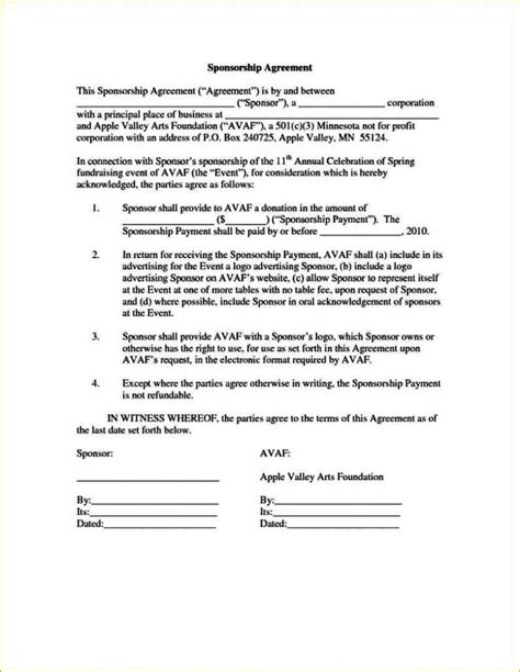Event Sponsorship Agreement Template Sletemplatess Sletemplatess Event Sponsorship Contract Template
