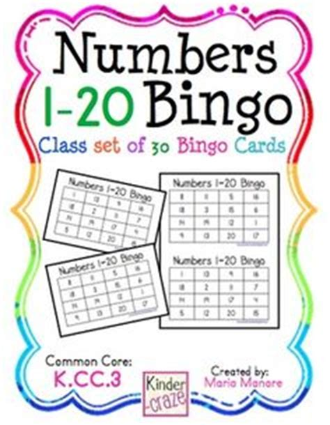 printable number 1 20 bingo 1000 images about teaching teen numbers on pinterest