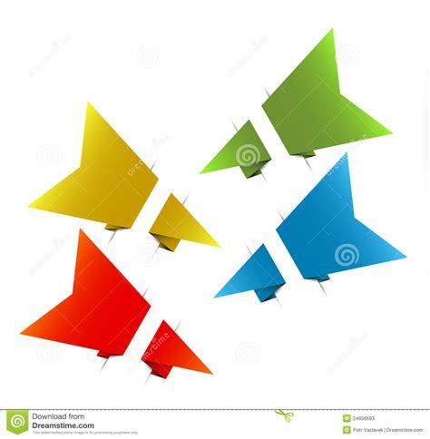 How To Make A Origami Arrow - vector paper origami arrows stock photos image 24656693