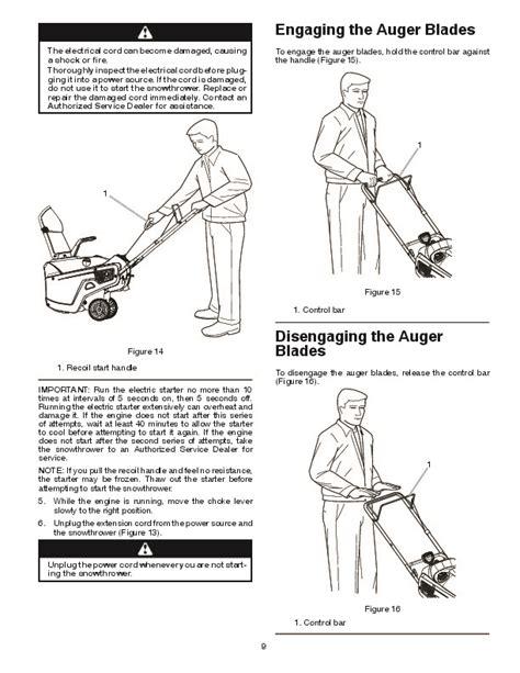 Poulan Pro Pr621es 436439 Snow Blower Owners Manual 2010