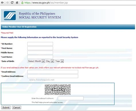 yahoo email registration philippines register sss account for online inquiry of contribution