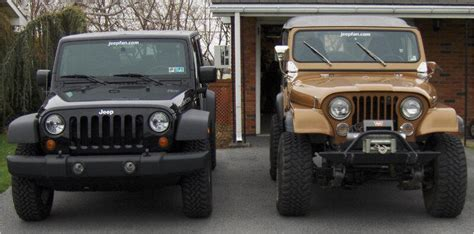Jeep Wrangler Model Comparison Jeep Cj To Jeep Wrangler Jk Comparison Jeepfan