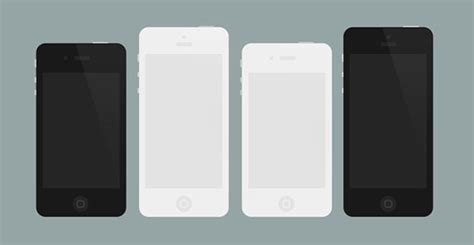Softjacket Jete Flat Iphone 4 flat iphone 4 5 mockups psd freebiesbug