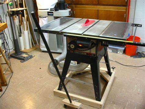 mobile bases for woodworking equipment mobile base serra circular tablesaw