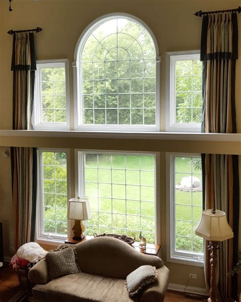 two story window drapes two story window treatment traditional family room