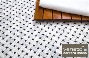 carrara venato honed basketweave mosaic floor and wall