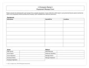 equipment receipt form in word and pdf formats