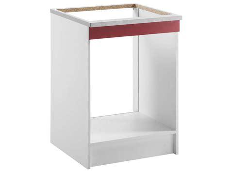 meuble cuisine plaque et four meuble bas 60 cm four plaque spoon shiny chez conforama