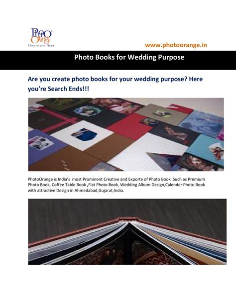 Wedding Album Design Gujarat by Photo Books In India By Photo Orange Issuu