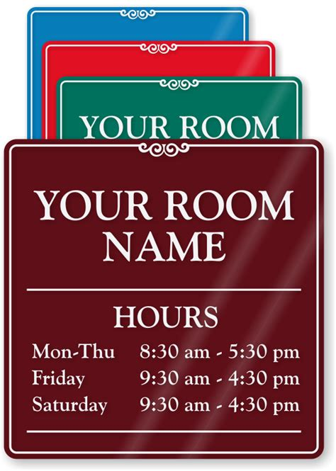 business closed sign template office hours signs