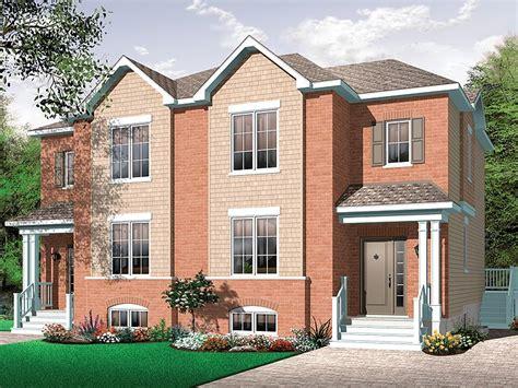 two storey duplex house plans plan 027m 0047 find unique house plans home plans and floor plans at