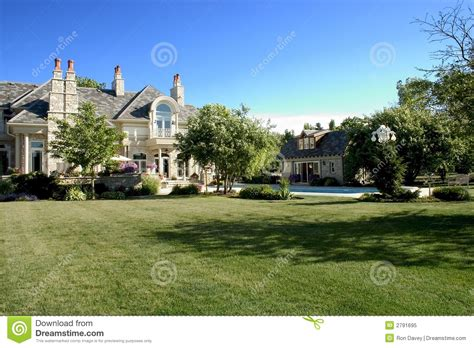 home yard luxury home back yard royalty free stock photo image