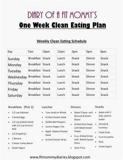 easy at home diet plans 14 day clean eating meal plan for the whole family