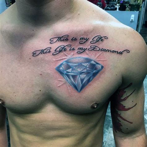 tattoo on upper chest 70 diamond tattoo designs for men precious stone ink