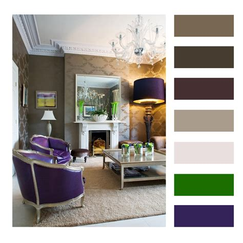Color Palettes For Home Interior | interior design color palettes chip it purple interior