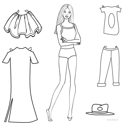 coloring doll free printable paper doll templates cool2bkids