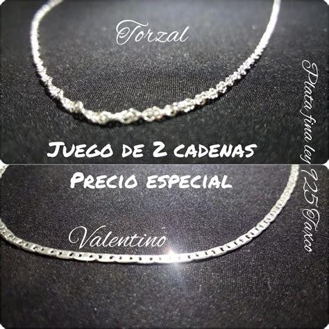 cadena de plata torzal para hombre cadenas plata taxco 925 valentino y torsal mujer unisex