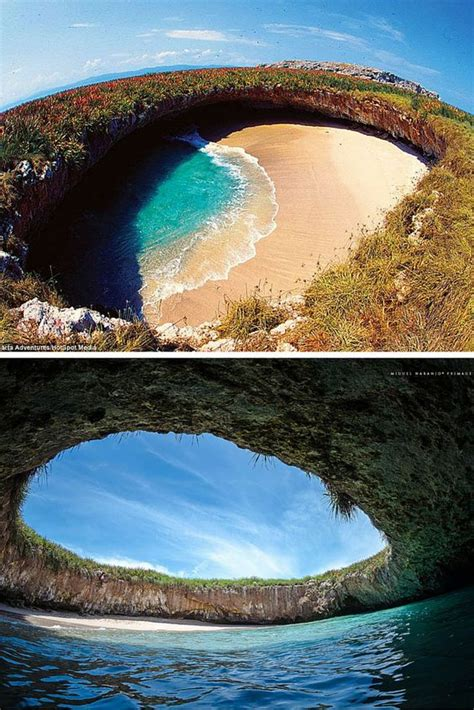 hidden beach in marieta mexico hidden beach the world and beaches on pinterest