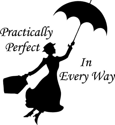 Birdcage Wall Art Stickers mary poppins practically perfect in every way wall sticker