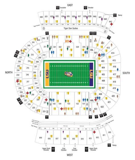 how many seats in tiger stadium lsu stadium seating diagram catalog auto parts catalog