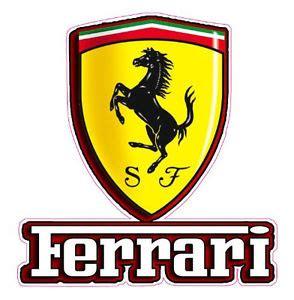 Ferrari Emblem Sticker Aufkleber Bezugsquelle by Ferrari Emblem Decal 5 Quot X 4 Quot Ebay