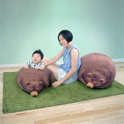 sleeping bean bag singapore sleeping grizzly and cub bean bag chairs the green