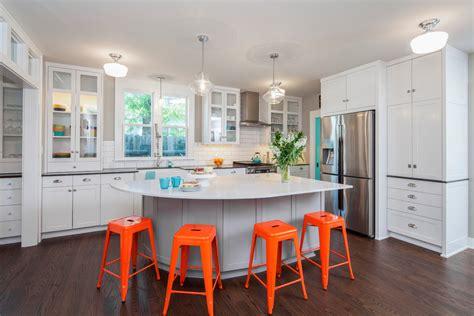 Bright Orange Bar Stools by Orange Kitchen Stools Home Design