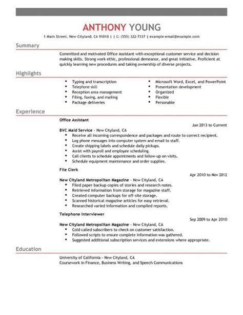 Resume Sample Software Engineer by Best Office Assistant Resume Example Livecareer