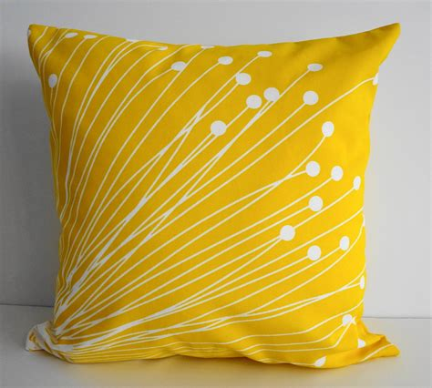yellow decorative bed pillows yellow starburst pillow covers decorative throw by pillows4fun